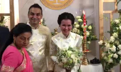 Võ Hạ Trâm cười tít mắt trong đám cưới