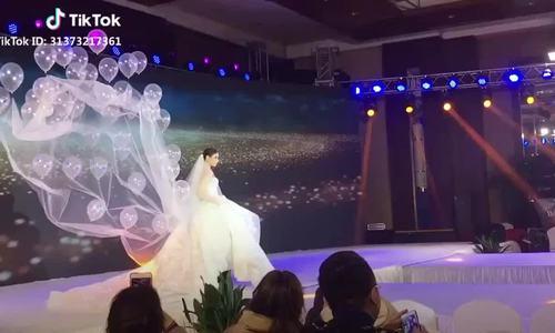 Trào lưu khăn voan 'bay' khiến cô dâu phát cuồng