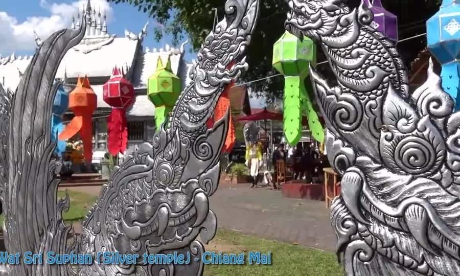 Ngôi đền phủ bạc ở Chiang Mai