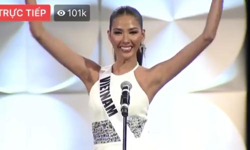 Hoàng Thùy thi bán kết Miss Universe