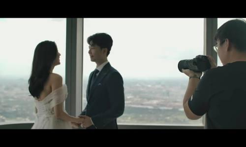 Thuý Vân và chồng chụp ảnh cưới