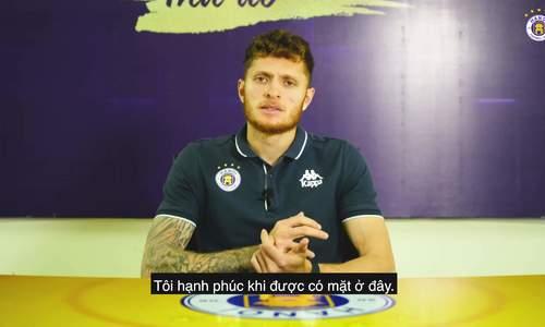 Tân binh lương nửa tỷ mong cùng Hà Nội FC vươn ra 'biển lớn'