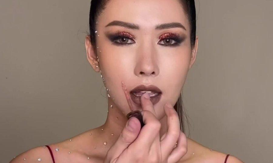 Hoa hậu Phan Thu Quyên cá tính với 2 kiểu makeup tone đất