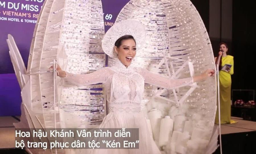 Hoa hậu Khánh Vân mang 'Kén em' đi thi Miss Universe
