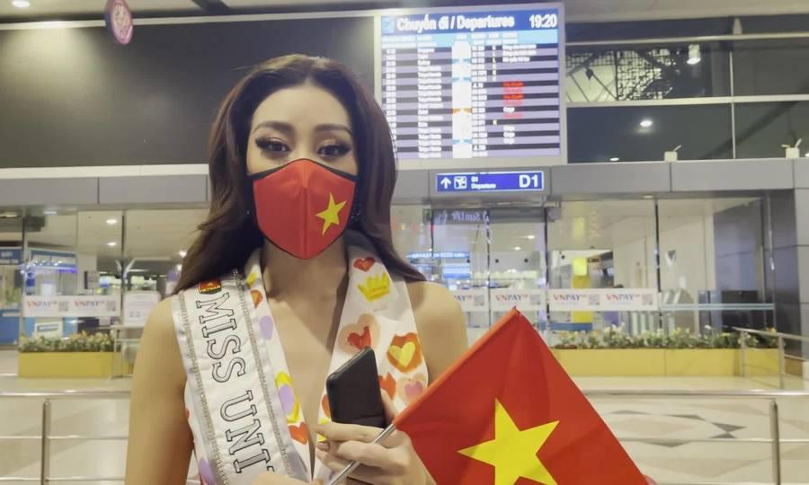 Khánh Vân mang 17 kiện hành lý sang Mỹ thi Miss Universe
