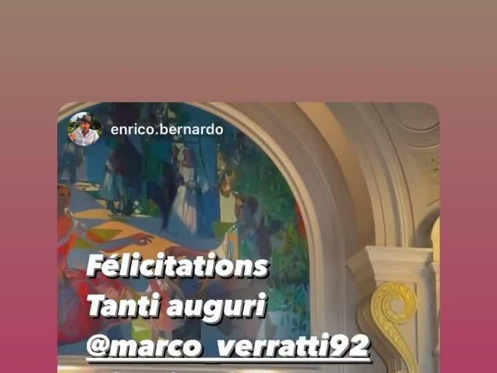 Verratti và vợ hôn nhau