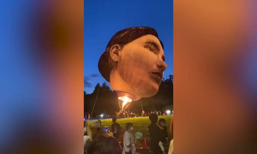 Khinh khí cầu hình đầu người ở Nhật
