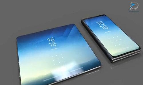 Hình dung về điện thoại Galaxy X màn hình gập