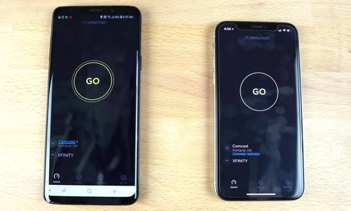 Galaxy S9+ so tốc độ với iPhone X