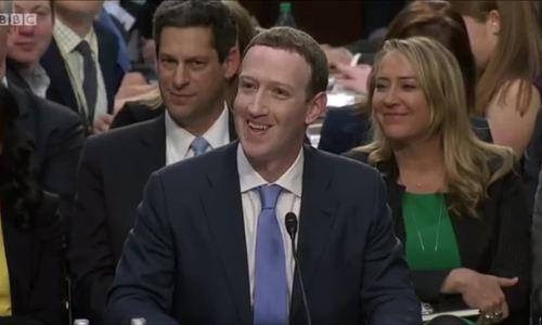 Những khoảng khắc của Mark Zukerberg tại phiên điều trần