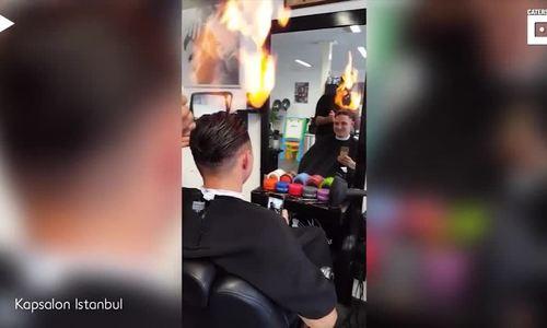 Cắt tóc bằng lửa