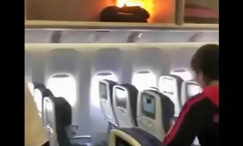 Sạc dự phòng bốc cháy trên máy bay