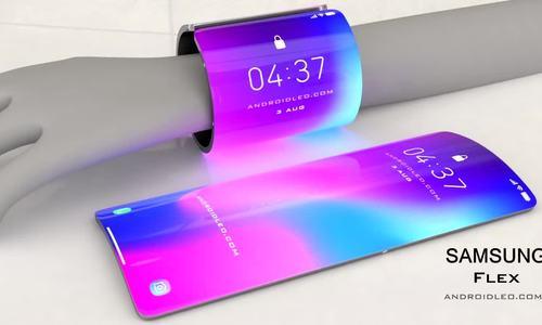 Ý tưởng điện thoại kiêm vòng tay Samsung Flex 2020