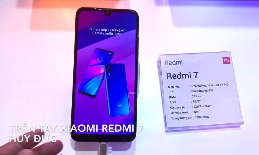 Trên tay Xiaomi Redmi 7