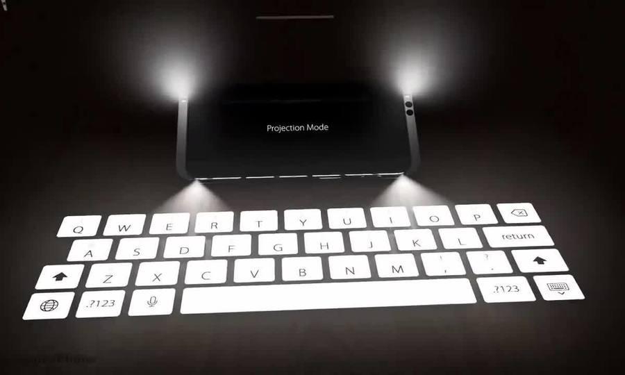 Ý tưởng iPhone 11 tích hợp máy chiếu