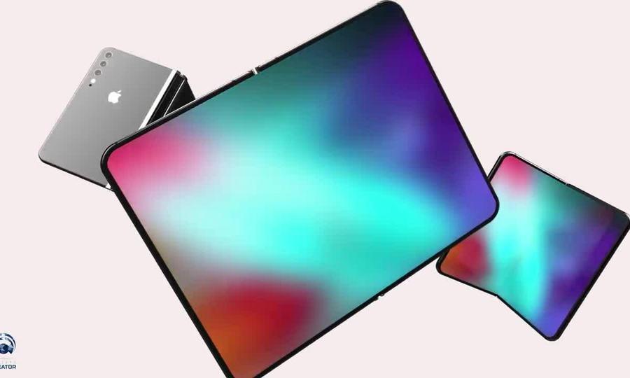 Ý tưởng iPhone màn hình gập, lai iPad Mini