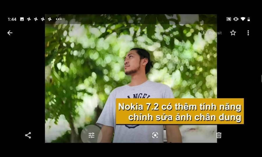 Tính năng chỉnh ảnh chân dung trên Nokia 7.2