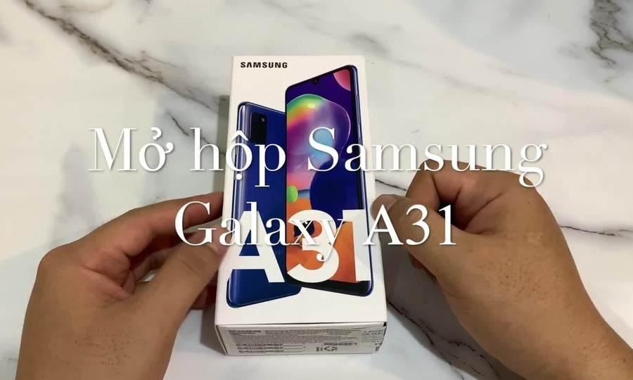 Mở hộp Samsung Galaxy A31