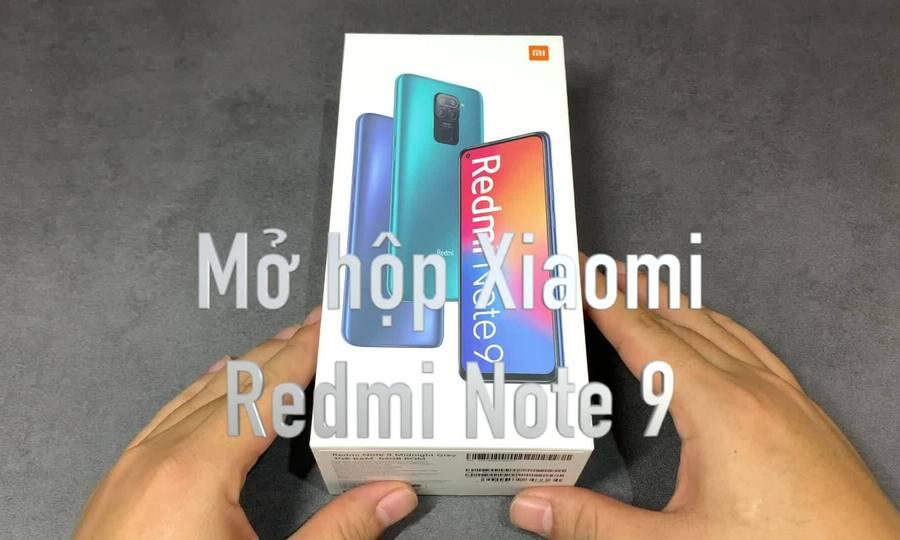 Mở hôp Xiaomi Redmi Note 9