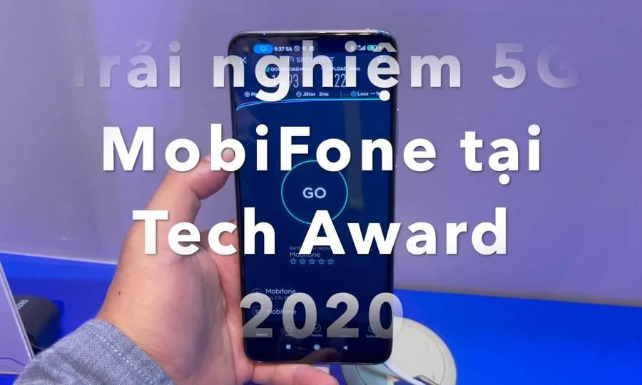 Trải nghiệm 5G MobiFone tại Tech Award 2020