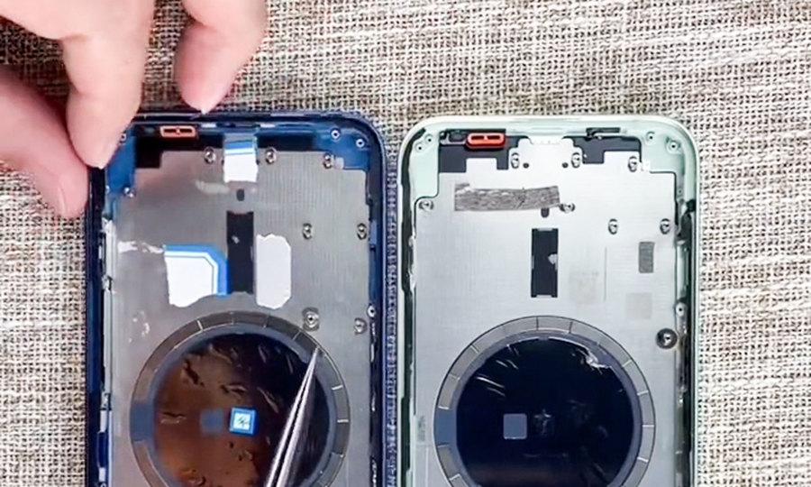 So linh kiện trong iPhone 13 và iPhone 12