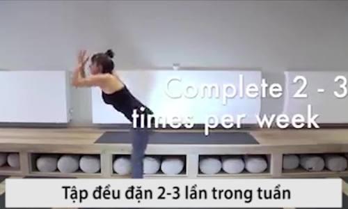 Bài tập yoga giúp giảm cân và giấc ngủ ngon