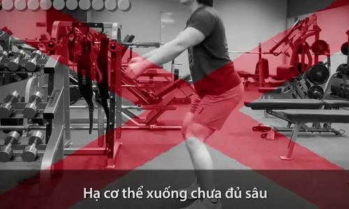 Những lỗi sai thường gặp khi tập squat