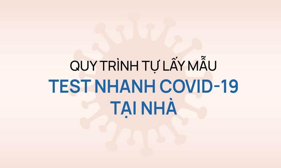 Quy trình lấy mẫu test nhanh Covid-19 tại nhà
