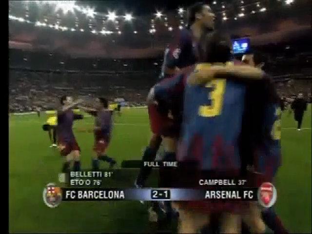 Chung kết Champions League Barcelona 2-1 Arsenal