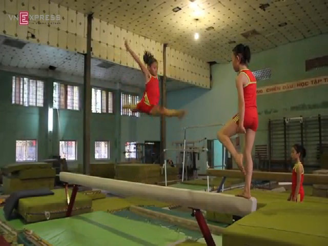 VĐV thể dục dụng cụ trẻ ở Hải Phòng