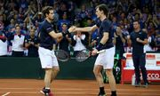 Steve Darcis/David Goffin 1-3 Andy Murray/Jamie Murray