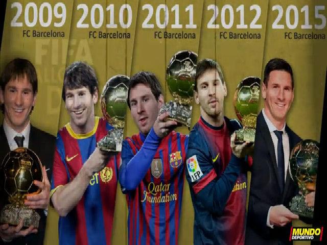 Leo Messi và 5 danh hiệu quả bóng vàng