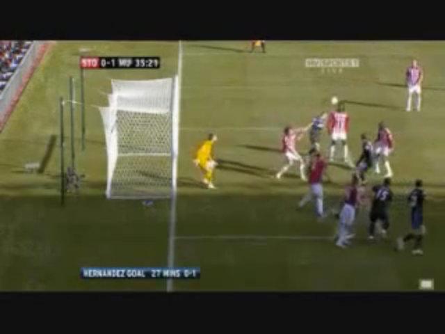 Bàn thắng của Chicharito vào lưới Stoke