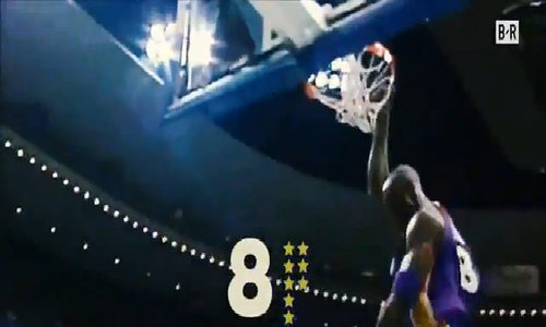 Kobe Bryant trong hai chiếc áo 8 và 24