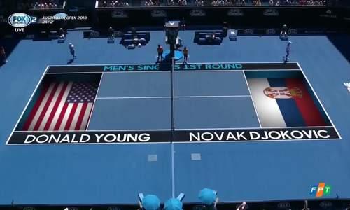 Novak Djokovic 3-0 Donald Young