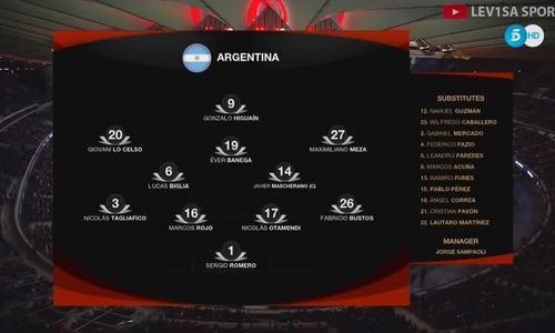 Tây Ban Nha 6-1 Argentina
