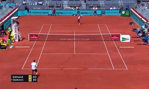 Kyle Edmund 2-1 Novak Djokovic
