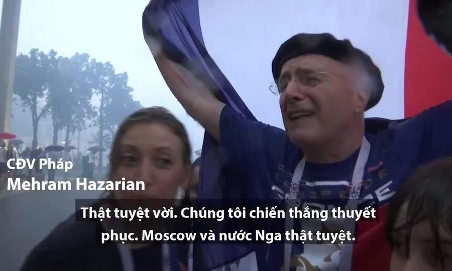 Cảm xúc của CĐV Pháp và Croatia sau trận chung kết World Cup 2018