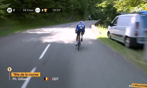 Cua-rơ bị rơi xuống vực, vẫn đua tiếp ở Tour de France