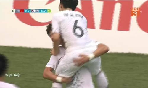 Tỷ số là 2-0 cho Hàn Quốc