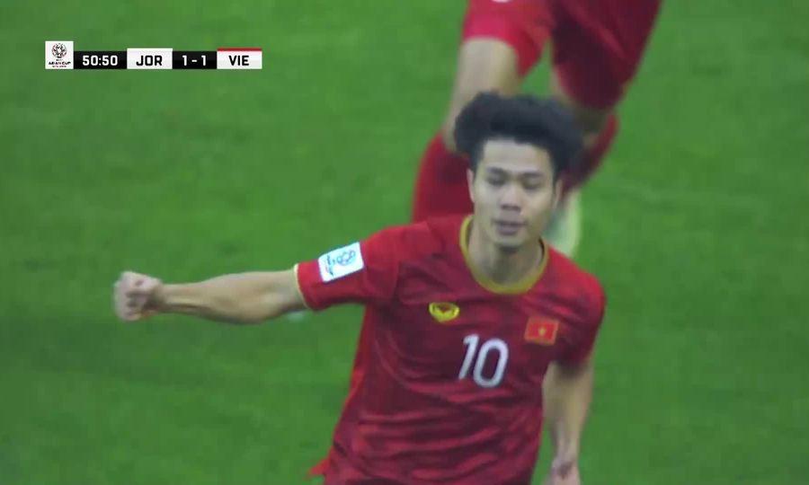 Hai pha ghi bàn của Công Phượng ở giải Asian Cup 2019