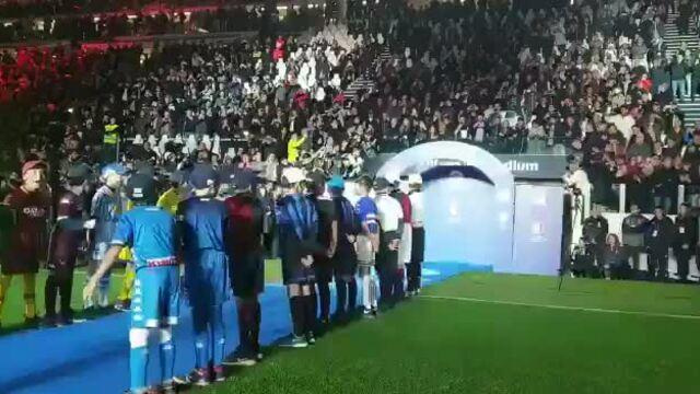 Ronaldo được chào đón ở lễ nhận Cup của Juventus