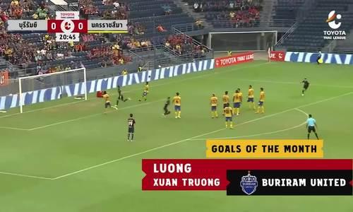Xuân Trường lọt vào danh sách bàn thắng đẹp tháng 5 tại TháiLeague