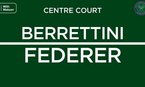 Roger Federer 3-0 Matteo Berrettini