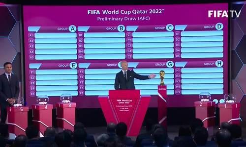 Truyền hình lễ bốc thăm vòng loại World Cup 2022