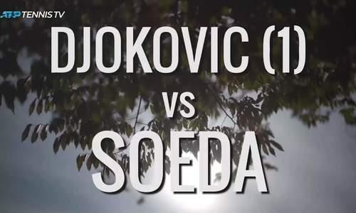 Novak Djokovic 2-0 Go Soeda