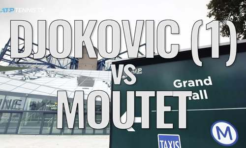 Novak Djokovic 2-0 Corentin Moutet