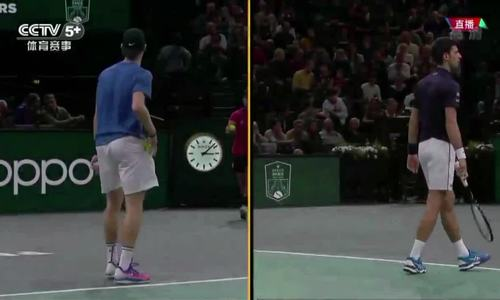 Novak Djokovic 2-0 Denis Shapovalov