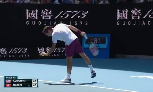 Roger Federer 3-2 Tennys Sandgren