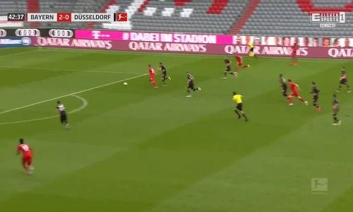 Bàn thứ ba của Bayern trước Dusseldorf